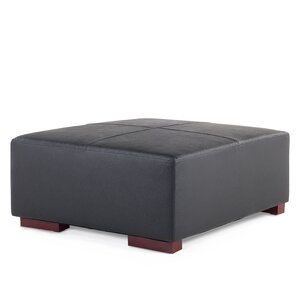 Tamika Leather Ottoman by Orren Ellis