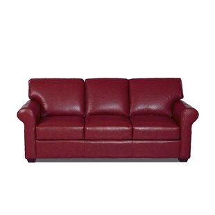 Rachel Leather Sofa by Wayfair Custom Upholstery™