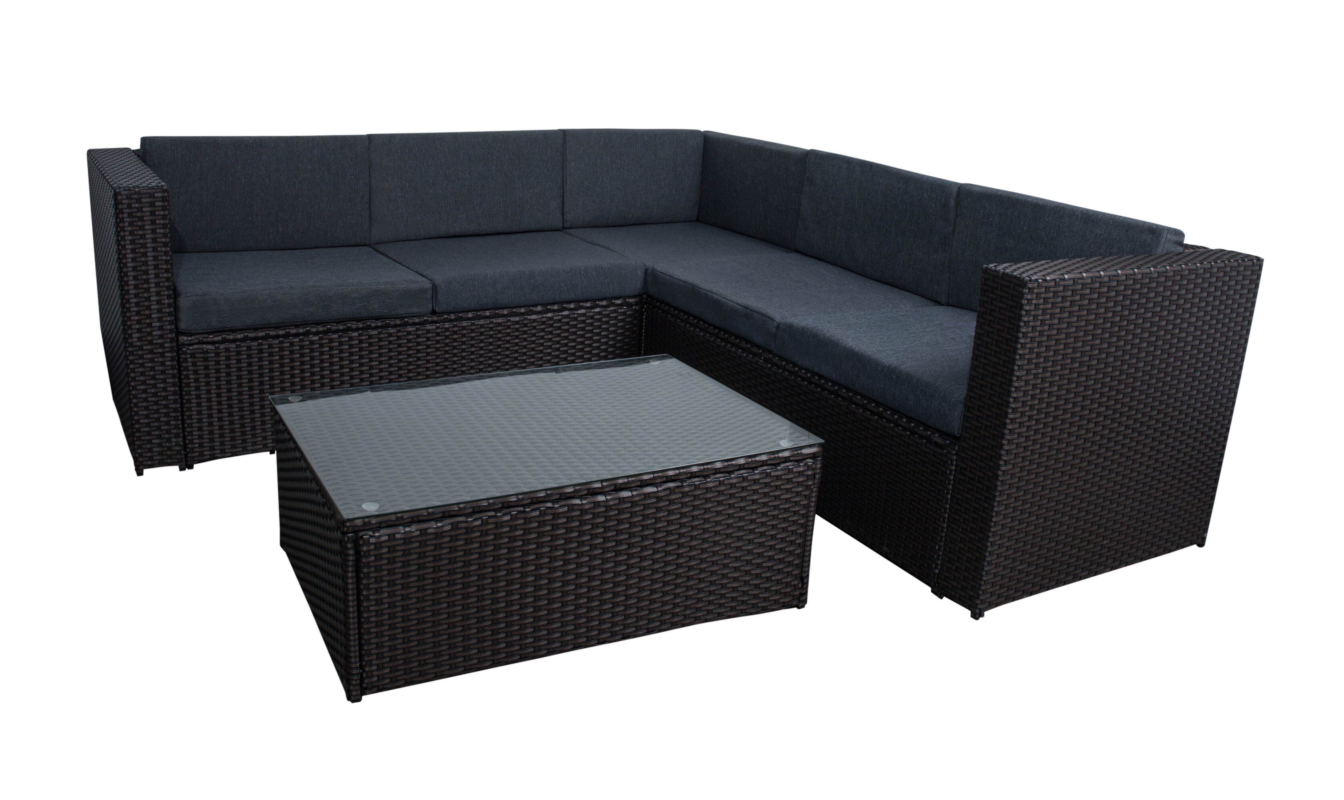 Wrought Studio Ortego 4 Piece Rattan Sectional Seating Group With Cushions Reviews Wayfair