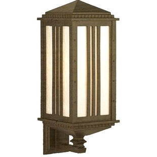 Check Prices Petrey 1-Light Outdoor Sconce By Alcott Hill