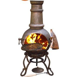 Toledo Cast Iron Charcoal/Wood Burning Chiminea By Gardeco
