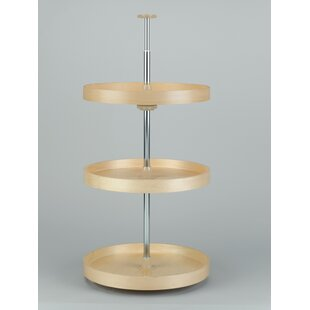 Banded Wood Full Circle 3 Shelf Lazy Susan by Rev-A-Shelf