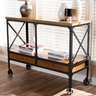 Aleman Vintage Rustic Industrial Console Table By Williston Forge