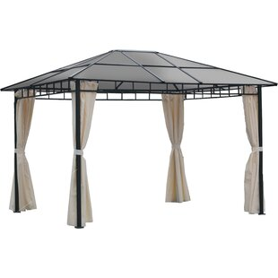 Vidette 3.6m X 3m Aluminium And Steel Patio Gazebo By Sol 72 Outdoor
