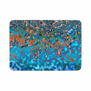 Mandala Art by Li Zamperini Bath Mat