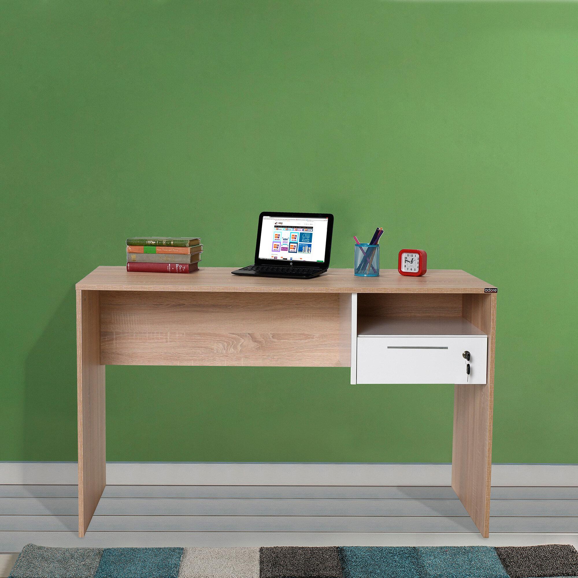 Winston Porter Hinderliter Solid Wood Desk Wayfair