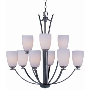Red Barrel Studio Barys 9-Light Shaded Chandelier