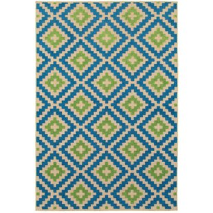 Valerie Green/Blue Indoor/Outdoor Area Rug
