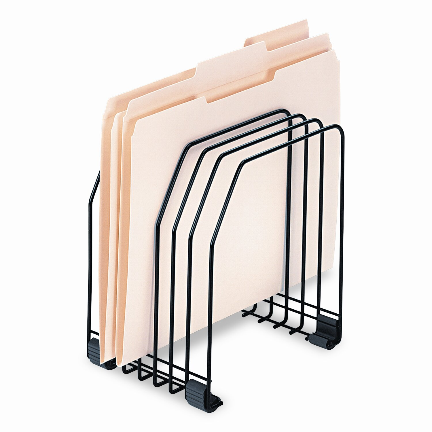 Wire File Folder Organizer   Fellowes Manufacturing Workstation File Organizer Seven Sections