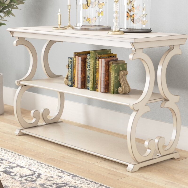 Antique White Noisettier Console Table by Lark Manor