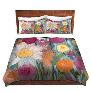 DiaNoche Designs Earth at Daybreak Flowers Duvet Set