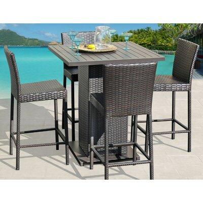 Tegan 5 Piece Bar Dining Set Sol 72 Outdoor
