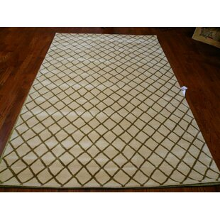 Marcello Hand-Tufted Wool Beige Area Rug By Alcott Hill