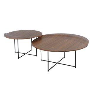 Union Rustic Lauzon 2 Piece Coffee Table Set