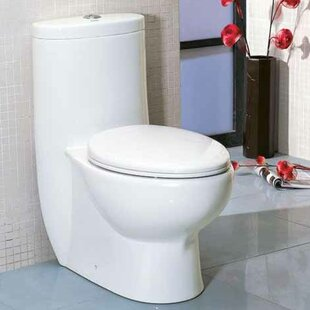EAGO Tall Dual Flush Elongated One-Piece Toilet