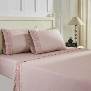Orrington Rich Lace Hem Solid Color Sheet Set