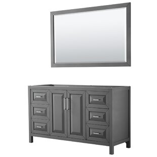 Read Reviews Daria 59 Single Bathroom Vanity Base Only with Mirror ByWyndham Collection