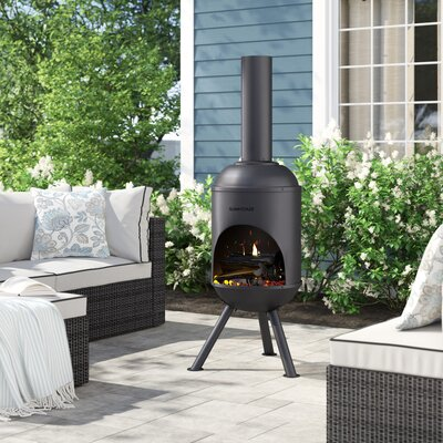 Wood Burning Outdoor Fireplaces & Fire Pits You'll Love in ... on Quillen Steel Wood Burning Outdoor Fireplace id=43363
