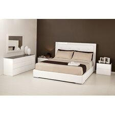 Diamond Upholstered Platform Bed by Calligaris