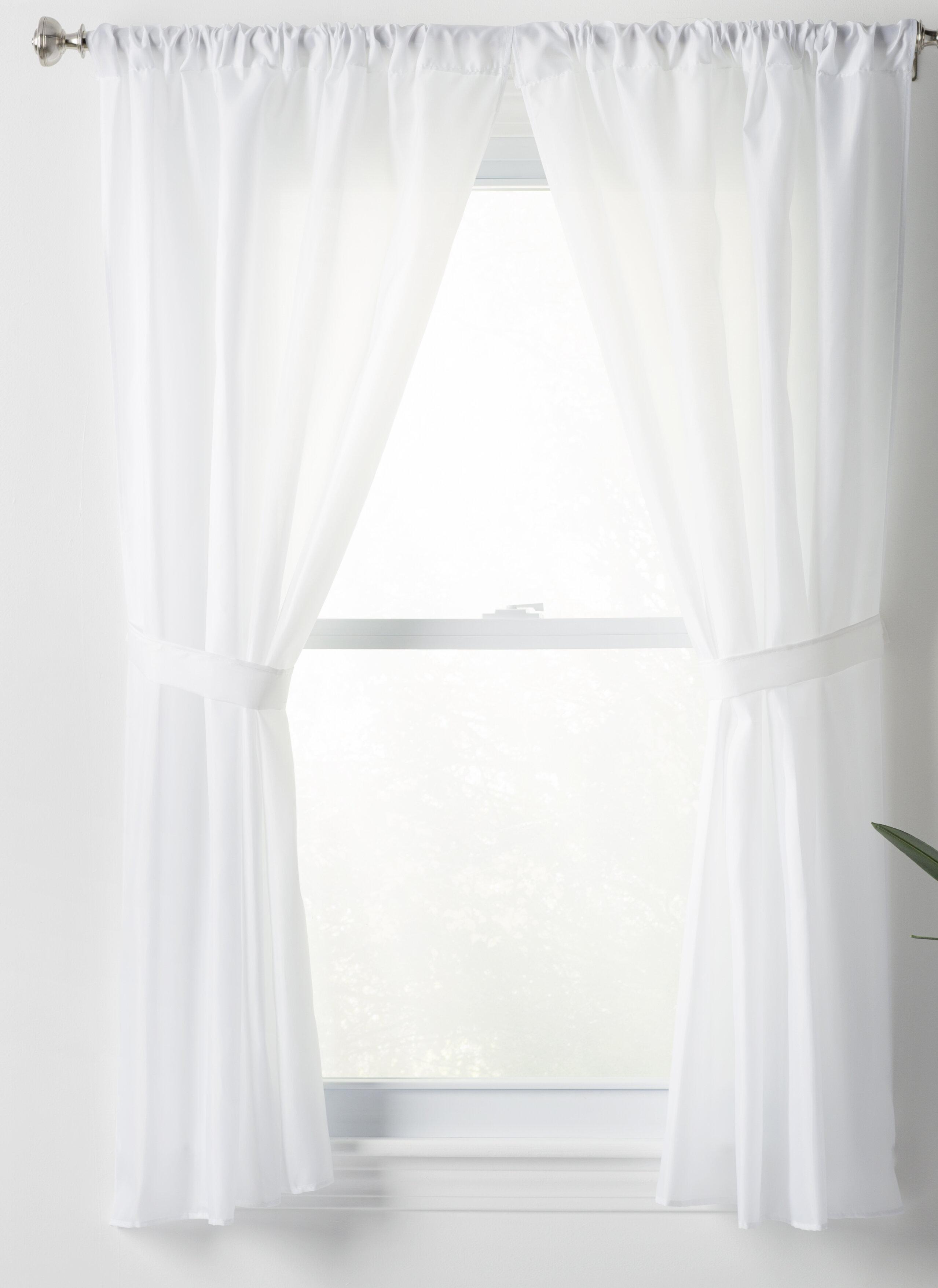 Wayfair Basics Solid Sheer Rod Pocket Bathroom Curtain Panels Reviews
