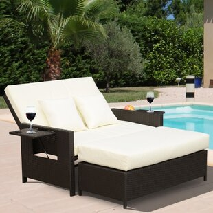 Abernathy Double Reclining Chaise Lounge with Cushion