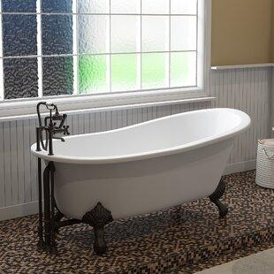 Comparison 67 x 31 Clawfoot Soaking Bathtub ByCambridge Plumbing