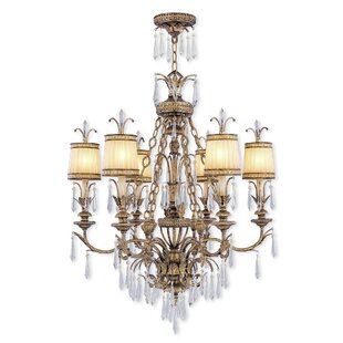 Astoria Grand Perot 6-Light Shaded Chandelier