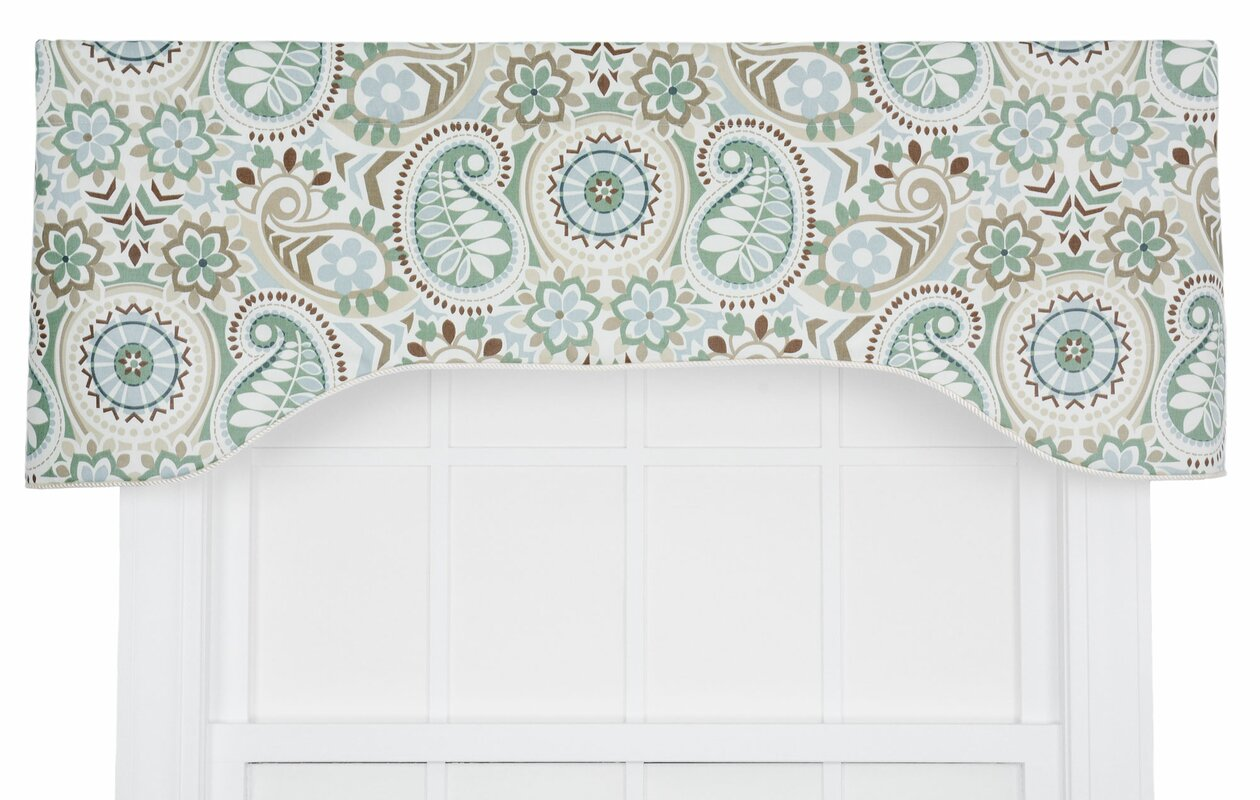 Perfect Drumahaman Floral Print Lined Arched Curtain Valance