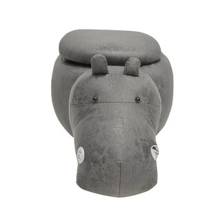 Adi Hippo Animal Storage Kids Ottoman by Mack & Milo