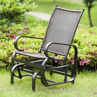 Krish Outdoor PE Wicker Glider Rocking Chair