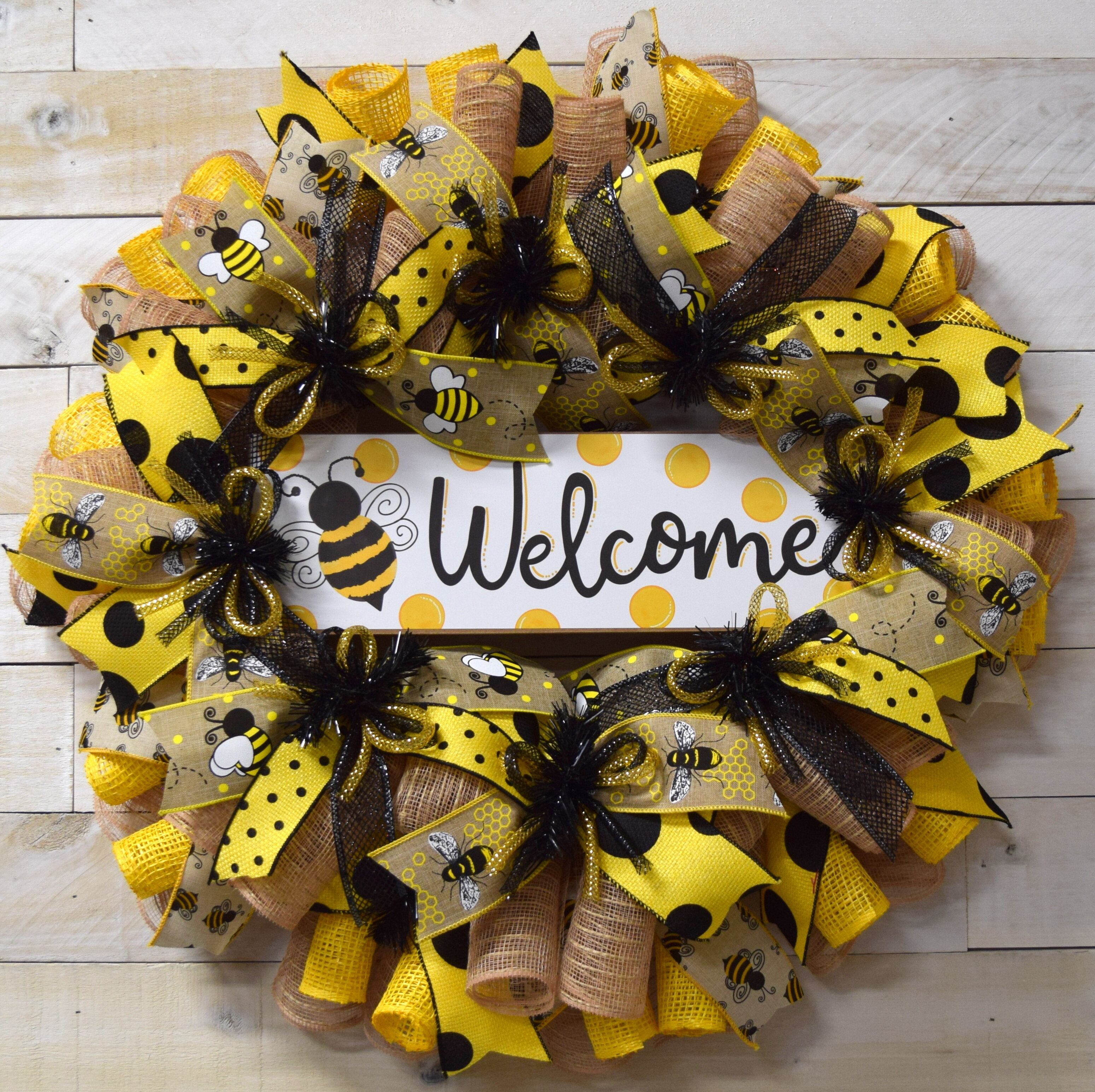 Winston Porter Welcome Bees 24 Wreath Reviews Wayfair