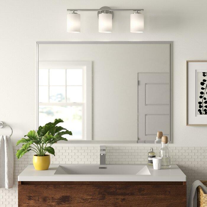 Marylee Rectangle Beveled Polish Frameless Wall Mirror With Hooks