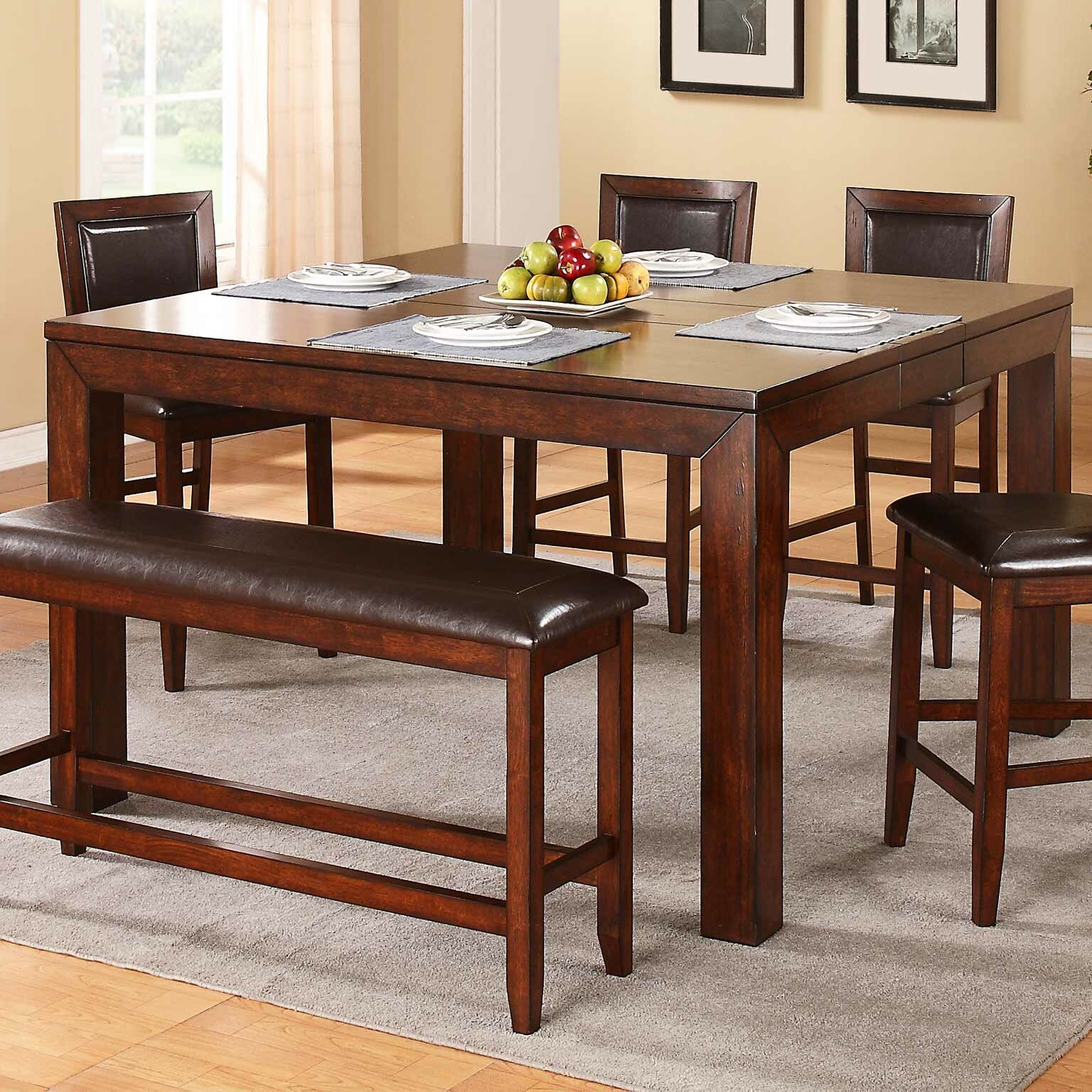 Red Barrel Studio Brookstonval Counter Height Extendable Dining Table Reviews Wayfair