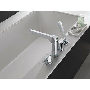 Delta Zura Double Handle Deck Mount Roman Tub with Hand Shower Trim