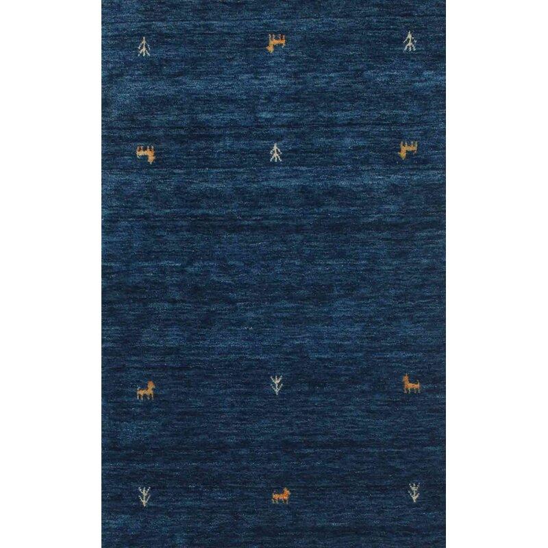World Menagerie Rosati Contemporary Dark Blue Area Rug Wayfair