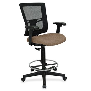 Lorell Mid-Back Mesh Drafting Chair