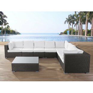 Haynie 8 Piece Sectional Seating Group with Cushions