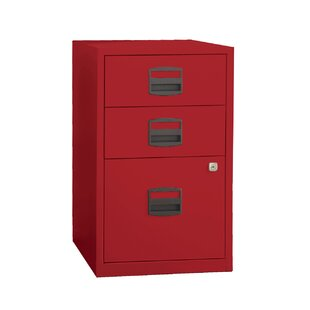 Wrought Studio Castaneda 3 Drawer Steel Home or Office Filing Cabinet
