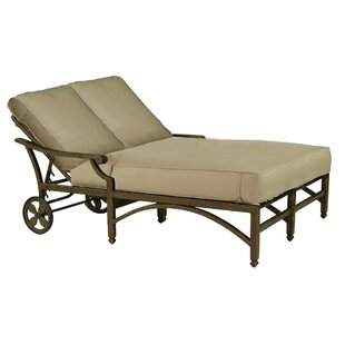 Leona Grand Regent Double Chaise Lounge with Cushion