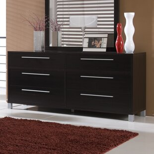 Latitude Run Sibley 6 Drawer Double Dresser