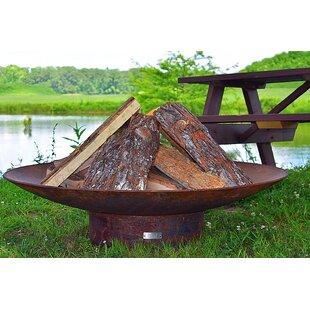 Seasons Fire Pits Concave Steel Wood Burn..