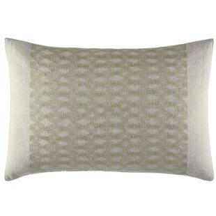 Silk Strie Layered Stitching Linen Lumbar Pillow