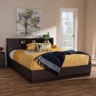 Queen Bed With Shelf Headboard Wayfair