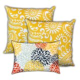 Mirabeau Pineapple Islands Indoor / Outdoor Pillow