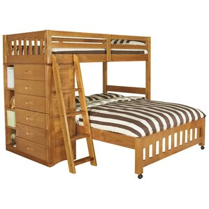 kaitlyn lshaped twin over full bunk bed