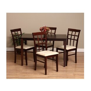 Justin 7 Piece Solid Wood Dining Set Warehouse of Tiffany