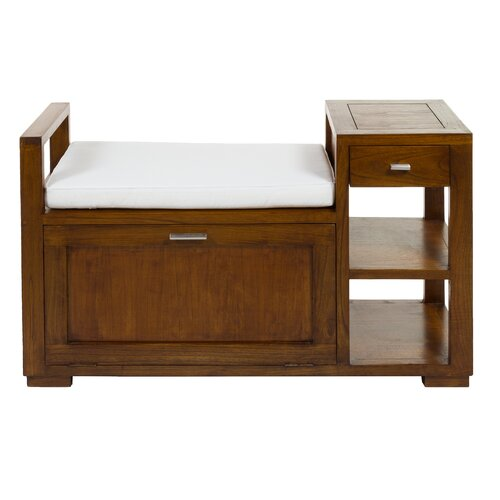 Torpoint Wood Storage Bench Union Rustic