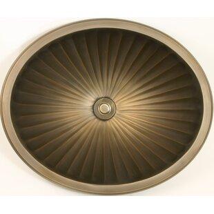 Linkasink Bronze Metal Oval Drop-In Bathroom Sink