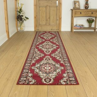 Baronets Tufted Red Hallway Runner Rug Image