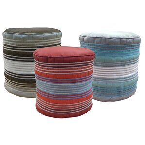 Shoelace Cord Pouf Ottoman by Edie Inc.